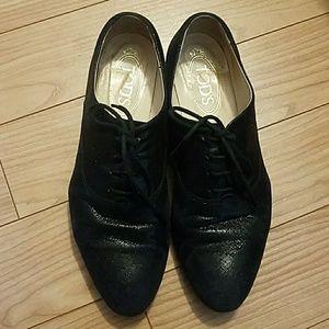 Tod's Black Shimmer Shoes